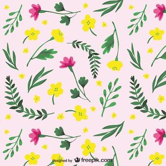 Pintado padrão de flores