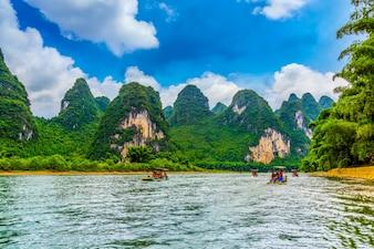 Paisagem paisagem de pico terra de bambu famosa