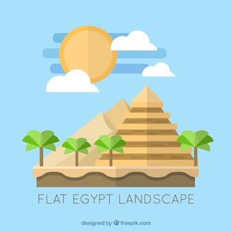 Paisagem plana Egito