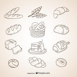 Pão rabisca coleção