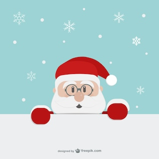 Papai Noel cara dos desenhos animados