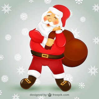 Papai Noel personagem de desenho animado