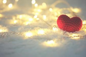 Papel de parede bonito do dia do símbolo do amor brilhante