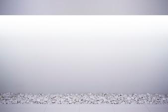 parede branca de uma casa moderna