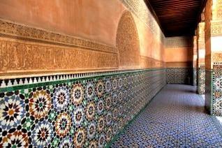 parede com design árabe