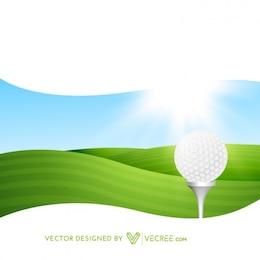 Parque de golfe no sol brilhante