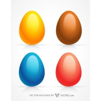 Páscoa ovos coloridos 3d
