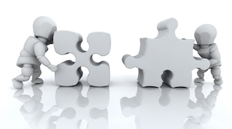 Peças do puzzle, 3d