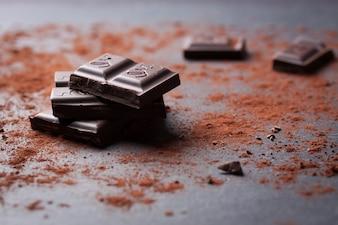 Pedaço de chocolate