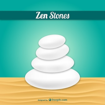 Pedras do zen vector