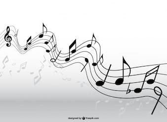 Pentagrama música vetor