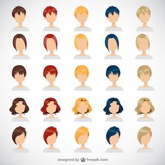 Penteados das mulheres