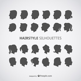 Perfis penteados vetor ajustados