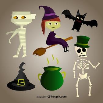 Personagens de desenhos animados para o dia das bruxas