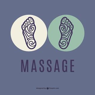 Pés massagem vetor