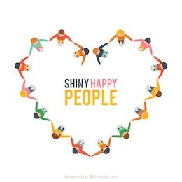 Pessoas felizes brilhantes