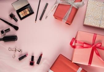 Pincéis de maquiagem e presente