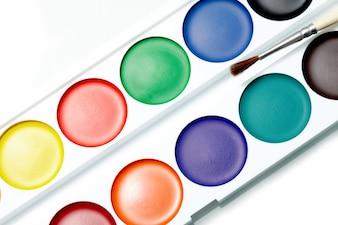 Pintado de cor de matiz do arco-íris cor de laranja