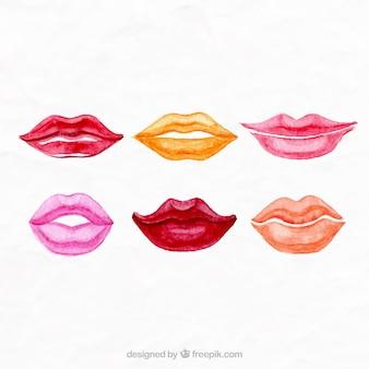 Pintados à mão lábios