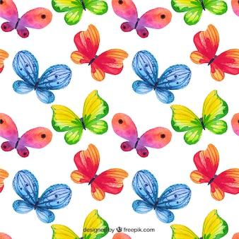 Pintados à mão padrão de borboletas