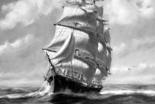 pintura tall ship