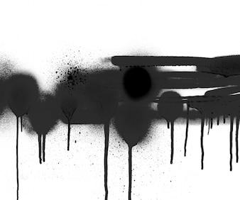 Pintura texturizada silhueta queda splat