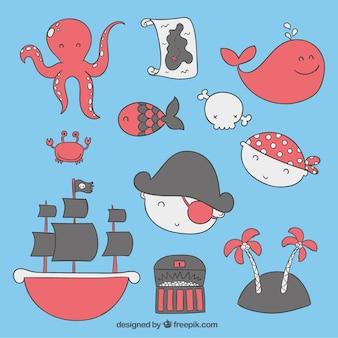 Piratas bonitos do bebê