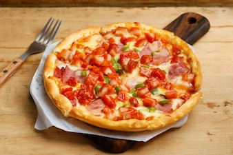 Pizza de frango com bacon