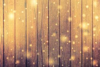 Placas de madeira com flashes de luz