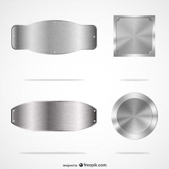 Placas de metal