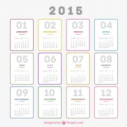 Plain 2015 calendário