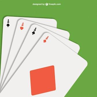 ás do póquer ilustração vetorial
