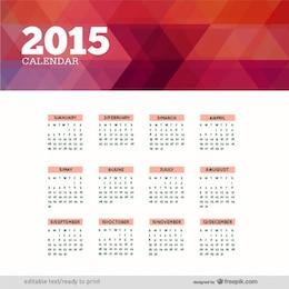 Poligonal 2015 calendário