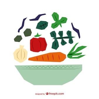 Poligonal ilustração salada vetor