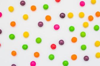 Pontos coloridos de doces