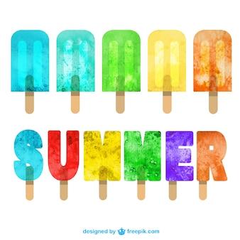 Pops de gelo de verão