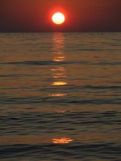 Pôr do sol, azul, bonito