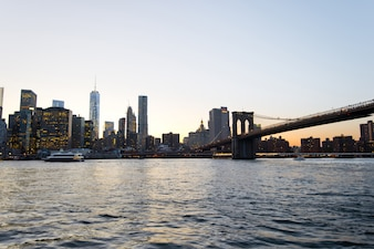 Pôr do sol em Manhattan