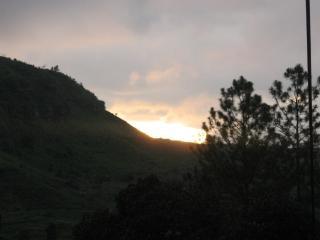 Pôr do sol, escuro