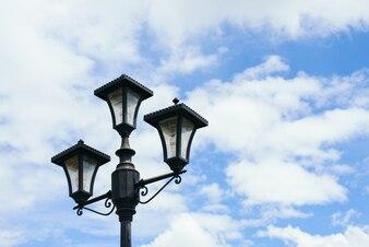 Poste equipamento de rua lâmpada de fundo