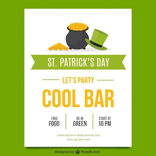 Poster de St patricks partido do dia