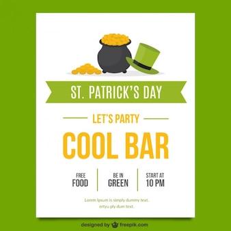 Poster de St patricks partido do dia