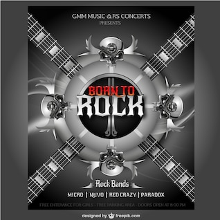 Poster do concerto de rock