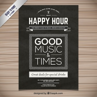 Poster Happy hour