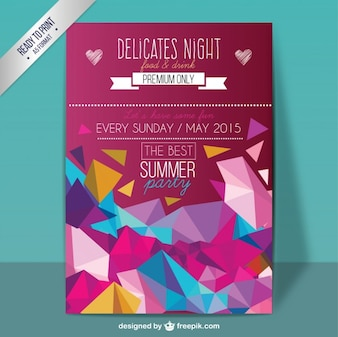 Poster partido Geometric verão