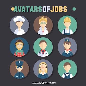 Postos de trabalho conjunto avatar