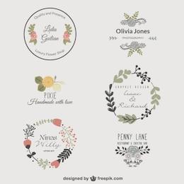 Prémio modelos de logotipo florais