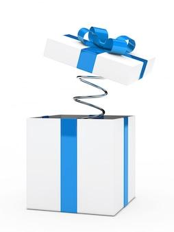 Presente de aniversário com mola flexível