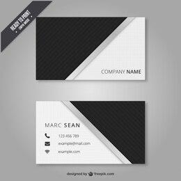 Preto e branco cartão de visita