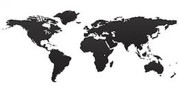 Preto Mapa do Mundo
